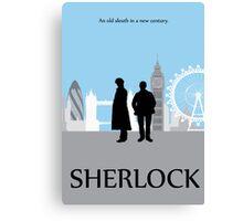 Minimalist Sherlock Work Canvas Print
