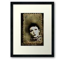 Doll stamp(self portrait) Framed Print