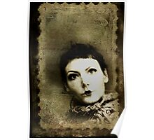 Doll stamp(self portrait) Poster