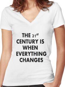 Torchwood 21st CENTURY Women's Fitted V-Neck T-Shirt