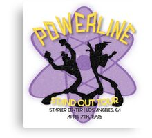 Vintage Powerline Concert Logo - A Goofy Movie Canvas Print