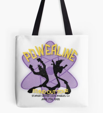 Vintage Powerline Concert Logo - A Goofy Movie Tote Bag