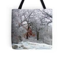 A Snow Scene Tote Bag