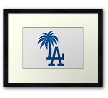 Los Angeles Dodgers Tropical Logo Framed Print