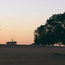 Lonely Emu Downs Sunset by Daniel Fitzgerald