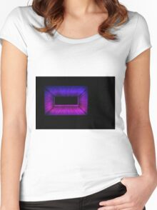 Pink and Blue Women's Fitted Scoop T-Shirt