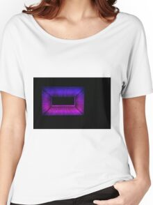 Pink and Blue Women's Relaxed Fit T-Shirt
