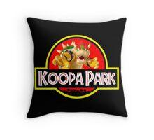 Koopa Park (Jurassic Park) Throw Pillow