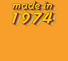 Made in 1974 (Yellow&Red) Womens Fitted T-Shirt