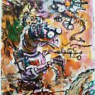 Creatures - Hand Painted Monoprint by Matt Bissett-Johnson