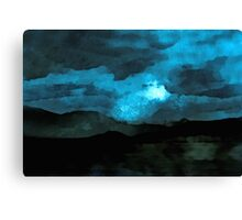 It was a moonlit night Canvas Print