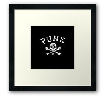 PUNK MUSIC - SKULL  Framed Print