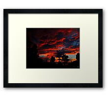 As The Sun Rises To Burn Another Day Framed Print