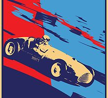 post futurist communist racing poster by Andre Gascoigne