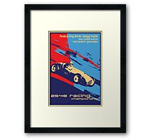 post futurist communist racing poster Framed Print