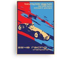post futurist communist racing poster Canvas Print
