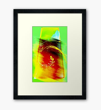 ancient reptile... an abstract dream sequence Framed Print