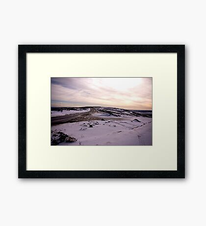 A Winters Road Framed Print