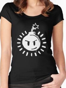 Funny Bomb - Black T Women's Fitted Scoop T-Shirt