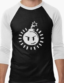 Funny Bomb - Black T Men's Baseball ¾ T-Shirt