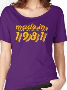 Made in 1981 (Yellow&Red) Women's Relaxed Fit T-Shirt