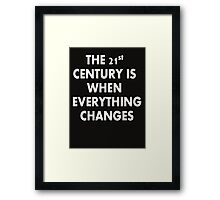 Torchwood - Everything Changes Framed Print