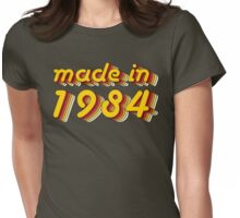 Made in 1984 (Yellow&Red) Womens Fitted T-Shirt