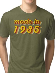 Made in 1985 (Yellow&Red) Tri-blend T-Shirt