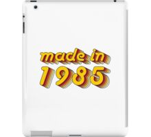 Made in 1985 (Yellow&Red) iPad Case/Skin