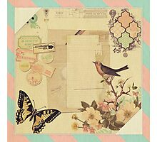 Vintage,girly,whimsical,cute,collage,shabby chic,floral, victorian Photographic Print