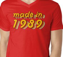Made in 1989 (Yellow&Red) Mens V-Neck T-Shirt