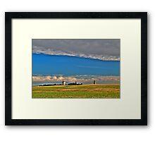 Elevators in the prairies Framed Print