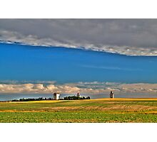 Elevators in the prairies Photographic Print
