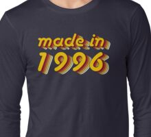 Made in 1996 (Yellow&Red) Long Sleeve T-Shirt