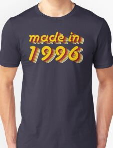 Made in 1996 (Yellow&Red) Unisex T-Shirt