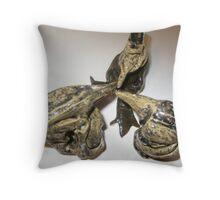 The glazed BIRDS Throw Pillow