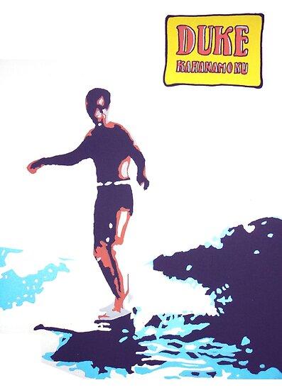 Duke Kahanamoku Pop Art Painting by colourfreestyle