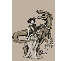 Dinos Are a Girl's Best Friend Photographic Print