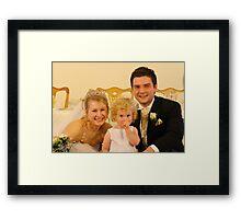 Wedding photo Framed Print