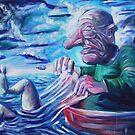 The Fisherman - Acrylic on Canvas by Matt Bissett-Johnson