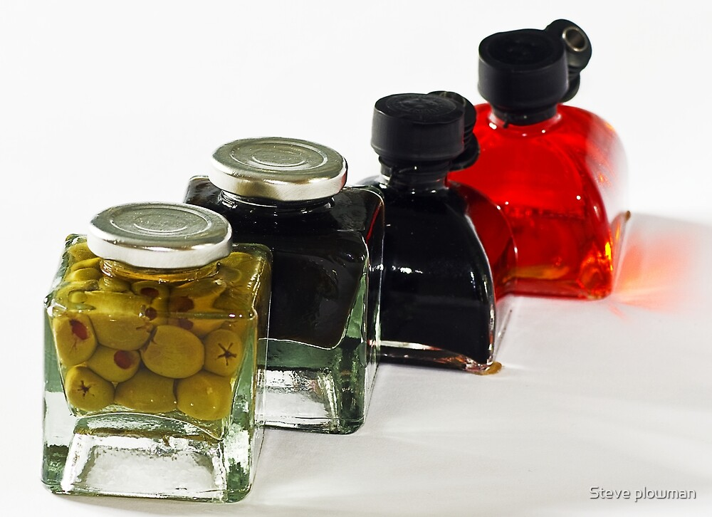 Olives and oil by Steve plowman