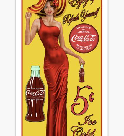 Coca Cola Red Sticker