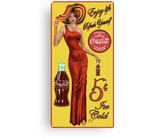 Coca Cola Red Canvas Print
