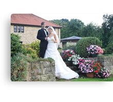 Wedding garden Canvas Print