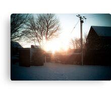 Snow shine Canvas Print