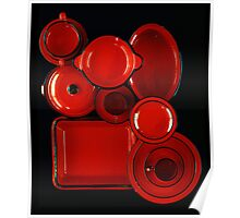 Red Kitchenware Poster