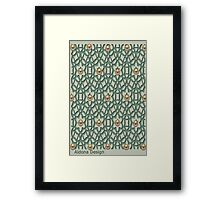 Pattern with pearls (4148 Views) Framed Print