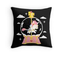 Dreamy Unicorn - CreamyDreamy Carousel Dome Throw Pillow