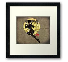 Meow War Pin Up Bombshell Framed Print