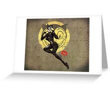 Meow War Pin Up Bombshell Greeting Card